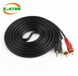 3.5mm Male to 2RCA Stereo Audio Y Cable Splitter (5FT)