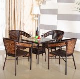 Cheap Outdoor Coffee Shop Dining Table Sets, Rattan Tables and Chairs (Z345)