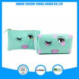 2017 Best Sale Patent PVC Cosmetic Bag Makeup Bag Dots Lips Printed