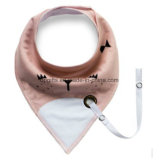 Wholesale Organic Cotton Triangle Baby Bandana Drool Bibs with Baby Pacifier