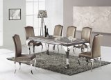2107 Competitive Price Dining Table Set with Stainless Steel Legs