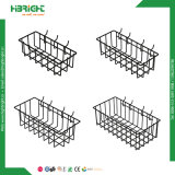 Four DIP Coated Hanging Wire Mesh Storage Baskets for Pegboard/Gridwall/Slatwall