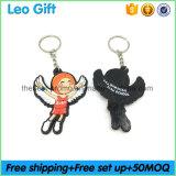 MOQ100PCS Custom Soft Plastic 3D Angel Keychain