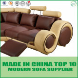 Modern Circular Fuctional Couches Sectional Leather Sofa Set with Recliner