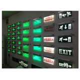 Battery Backup Wall Mounted ABS Green LED Emergency Indicator Light for Fire Exit