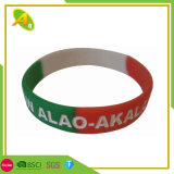 Fashion Cheap Rubber-Band Custom Colorful Silicone Wristand for Christmas Day Bracelet (077)