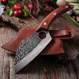 Ultra Sharp Full Tang Wooden Handle 7 Inch 5cr15 Japanese Cutlery Handmade Meat Slicing Knives Chef Knife