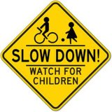 Plastic Wholesale Traffic Road Signs Reflective Traffic Control Kids Safety Temporary Sign in UAE