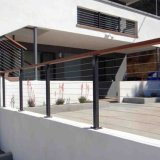 Flooring Mounted and Stainless Steel Material Cable Railing for Balcony / Stair / Deck Railing