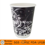 12oz Double Walled Disposable Printed Coffee Paper Cups