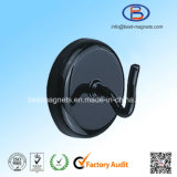 Black Painting Magnetic Pot with Hook