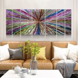 Colorful 3D Abstract Metal Oil Painting Modern Interior Wall Arts Decoration 100% Handmade