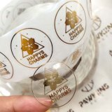 Waterproof Gold Foil Roll Self Adhesive Logo Clear Packaging Stickers Label