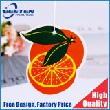 Cheap Hanging Orange Paper Car Perfume Scent Room Automatic Air Freshener