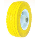 6X2 Inch Yellow PU Foam Wheel with Steel Rim Color Can Be Changed