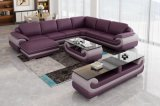 Living Room Furniture Corner Leather Modern Sofa