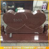 Chinese Cheap Red Granite Heart Shaped Monument
