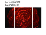 Red Rose Abstract Aluminum 3D Metal 100% Handmade Oil Painting