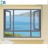 Custom-Made Aluminum Casement Window by Timber Surface Treament