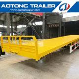 3 Axles 40FT Flatbed Semi Trailer for Sale (skeleton option)