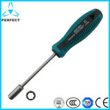 Non-Slip Handle Magnetic Cr-V Screwdriver