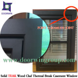 Latest Design Aluminum Clad Imported Solid Wood Window, Aluminium Solid Wood Windows with Shutters/Blinds