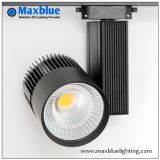 CREE COB LED Light Source Black LED Track Light for Shop/Store/Mall/Art Gallery Ce, RoHS, SAA, ETL