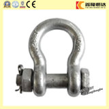 Forged G2130 U. S Type Bow Shackle, Galvanized Rigging