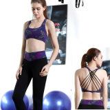 Weft Knitting 280 GSM 85% Polyester 15% Spandex Yoga Set