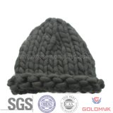 Hand-Knitting Knitted Hat