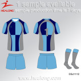 Healong Sublimated Customized Rugby Top Jersey Rugby Uniform Cheap Rugby Wear