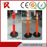 Recycled Plastic Road Fence Post Rubber Base Bollard T Top Post Warning Spring Delineator Post