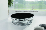 Fashion Design Tempered Glass Top Stainless Steel Base Round Coffee Table Living Room Furniture
