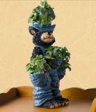 Polyresin Craft Cartoon Sculpture Flower Pot Home Decoration