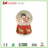 Customized Hand-Painted Resin Craft Christmas Snow Globe with Snowman Water Globe for Home Decoration and Souvenir Gift