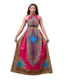 Nation Women Sexy Africa Print Dashiki Sleeveless Long Dress, Fashion Women Clothes
