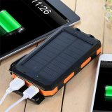 Waterproof 4000mAh to 20000mAh Portable Dual USB Battery Solar Charger Power Bank