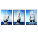 Sailing Metal Wall Art, Modern Home Decor, Abstract Wall Sculpture Contemporary- (24X32 inches for each panel)