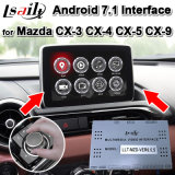 Android 7.1 GPS Navigator for 2013-19 Mazda Cx-3cx-4 Cx-5 Cx-9 Video Interface, Support Two Images Display in Same Screen