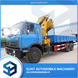 Crane Truck 6 Ton Telescopic Boom Truck Mounted Crane Knukled Folding Truck Mounted Crane Price for Sale