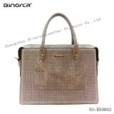 Fancy Puching PU Lady Handbag with Gorgeous Looking Large Capacity Formal Use Good Quality Competitive Price