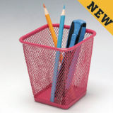 Accessories for Office Desk/ Metal Mesh Stationery Pencil Holder/ Office Desk Accessories