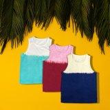 Simple Contract Color Children Fashion Dress Kids Wear Clothes