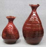 Red Different Size Ceramic Vase