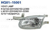 Head Lamp Assembly Fits Hyundai Accent 1998-1999. China Best! Factory Direct!