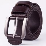 Top Quality Metal Pin Buckle Belt Pure Leather Belt for Men