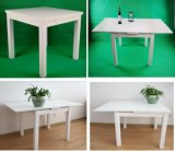 Solid Wood Furniture White Color Extension Dining Table