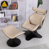 Lockable Bended Wood Board Eames Lounge Chair with Footrest