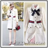 High Quality Clothing Designer Women/Lady Fashion Winter Wool Outdoor Long Jacket