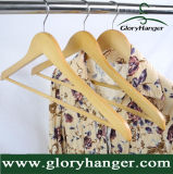 Wholesale Price Wooden Hanger with Two Clip/Matel Hook